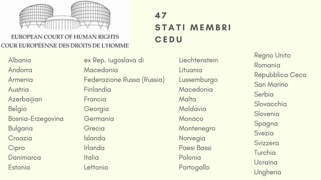 47 Stati membri CEDU