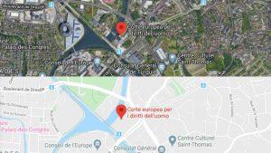 Indirizzo Corte europea diritti uomo CEDU